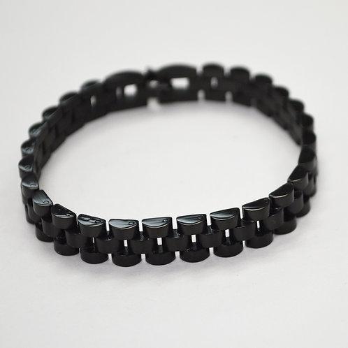 Designer Inspired Black Plated Bracelet 84-1784B-8