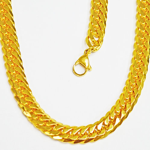 ROMBO GOLD IP PLATED CHAIN 12MM