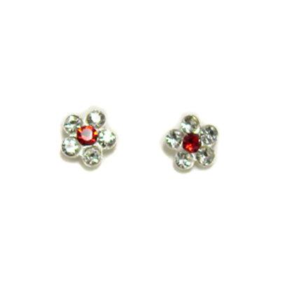Crystal Flower Stud Earring