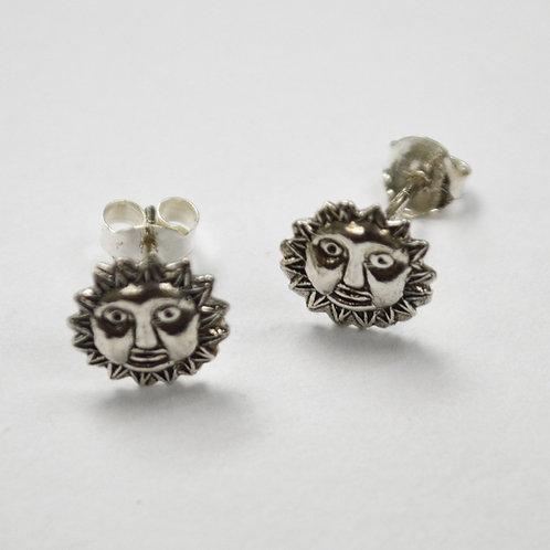 Sun Face Stud Earring Sterling Silver 535232