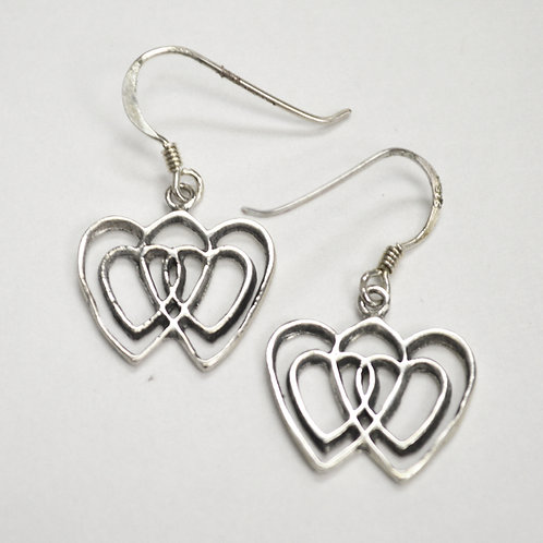 Heart Sterling Silver Earrings 535259