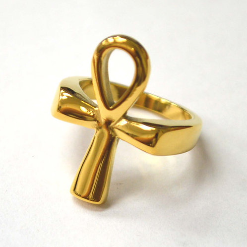 Ank Gold Plated Ring 81-1457G