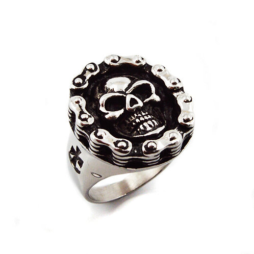 SKULL STAINLESS RING(22x25mm) 81-984