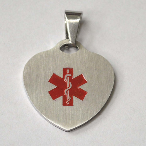 Heart Medical Tag Pendant 86-2404S