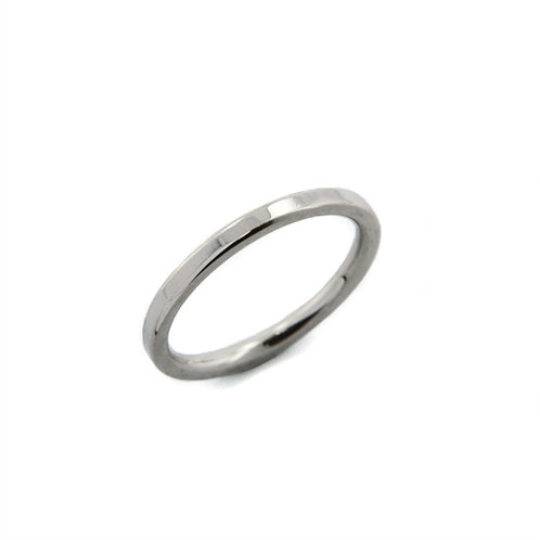 1mm SHINY FLAT BAND RING 81-403-1