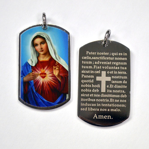 Virgin Mary Medallion Pendant 86-2234