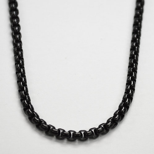 4m Black Sq ROLO Chain