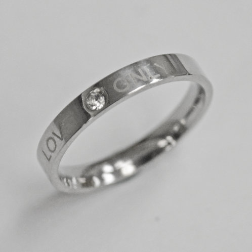 """""""LOVE ONLY"""" Ring (3mm) 81-786"""