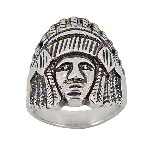 NATIVE CHIEF RING  81-1127