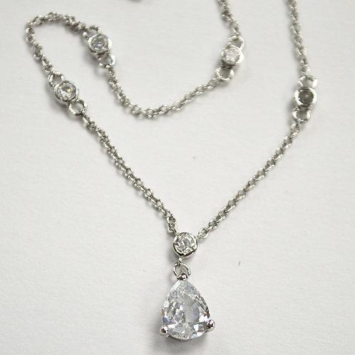 Designer Inspired Sterling Silver Necklace 551005