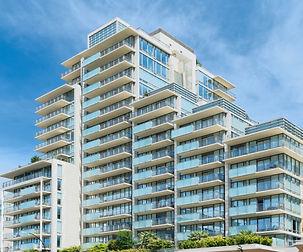 Condominium or apartment building with a