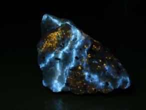 Aragonite and chondrodite