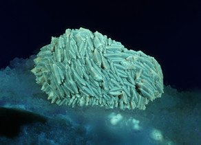 Wavellite sphere with unusual crystals
