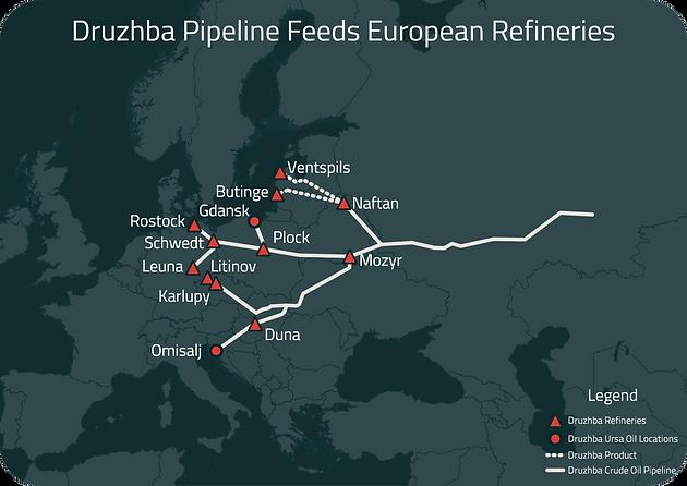 European crude inventories tighten on supply crunch