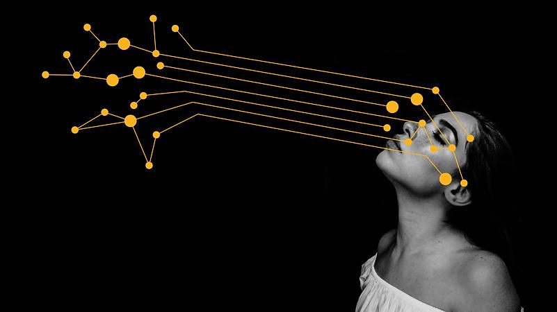 Moodbild für Datenverbindungen Mensch zu Maschine