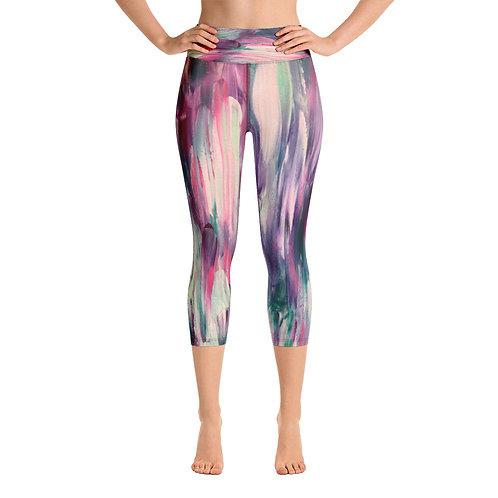 Monet Vibes Yoga Capri Leggings