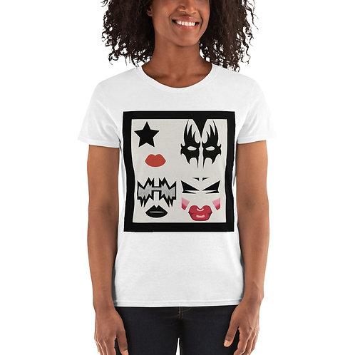 Kiss This Kitty Girl Women's short sleeve t-shirt