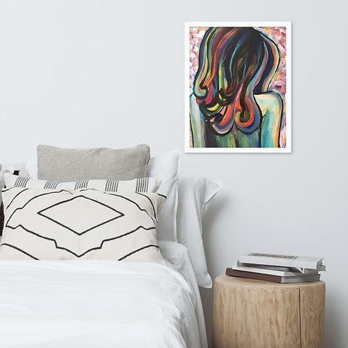 Rainbow Haired Girl #1 Framed Poster