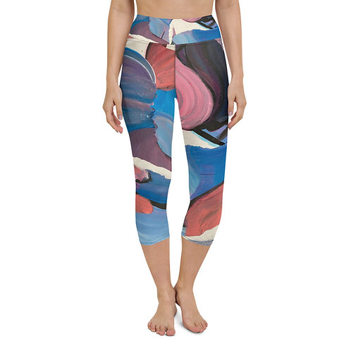 Abstract Mess Yoga Capri Leggings