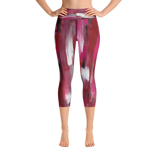 Saw Red Yoga Capri Leggings