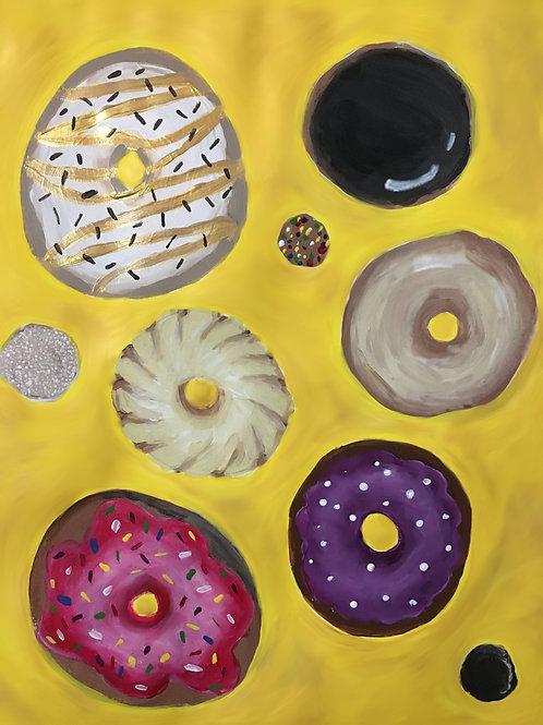 Raining Donuts Blank Greeting Card
