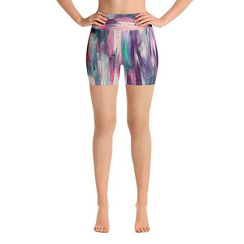 Monet Vibes Yoga Shorts