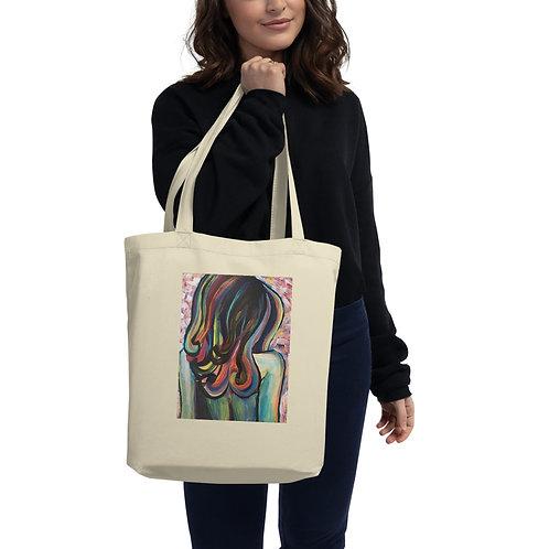 Rainbow Hair Girl #1 Eco Tote Bag