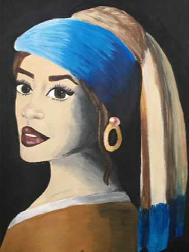 Girl with a Pearl Hoop Earring