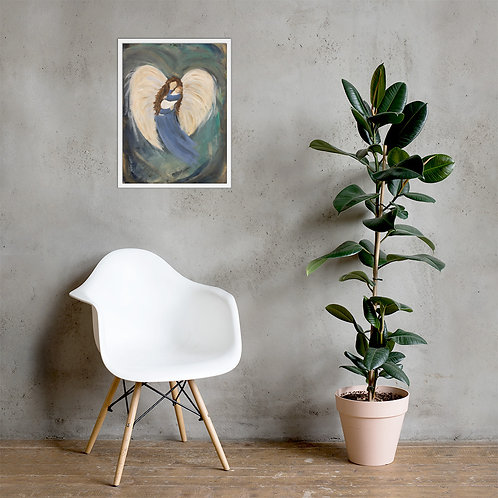 Angel and Baby Framed poster