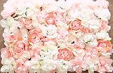 Blumenwand rosa