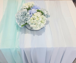 Tischläufer Chiffon - Hochzeitsdeko