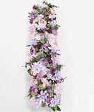 Blumenzeile lila flieder