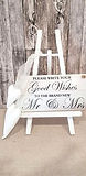 Schild mit Staffelei _Good Wishes_
