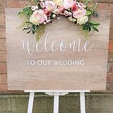 Schild - welcome to our wedding mieten_e