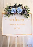 Welcome to our wedding Schild Tafel gold
