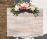 Schild - Willkommen zu unserer Hochzeit