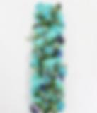 Blumenzeile türkis