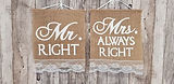 Mr. Right an Mrs. always right Jute miet