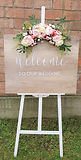 Schild - welcome to our wedding mieten.j