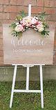 Schild - welcome to our wedding mieten.j