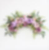 Blumenbogen lila flieder