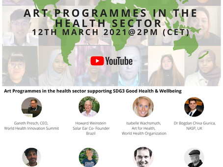 ART PROGRAMMES IN THE HEALTH SECTOR 12TH MARCH 2021 @2PM CET