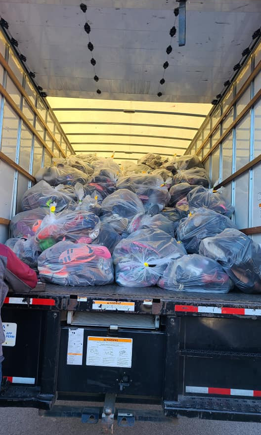 1500 Pounds of shoes!