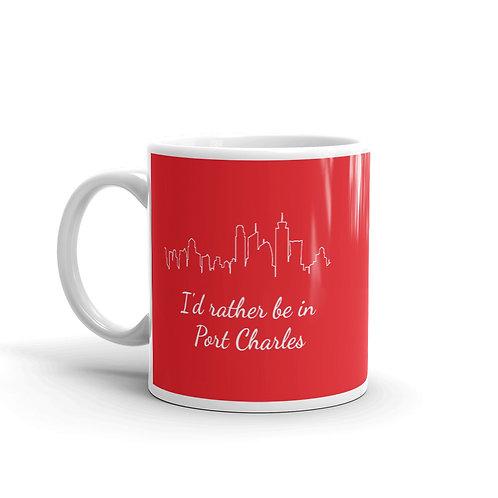 I'd Rather Be In Port Charles Mug - Red
