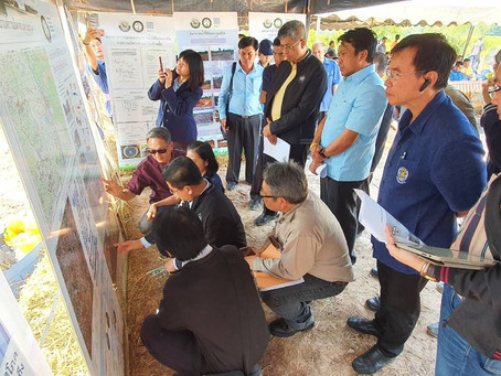 The Thailand Office of the National Water Resources visited one of our groundwater recharge basins