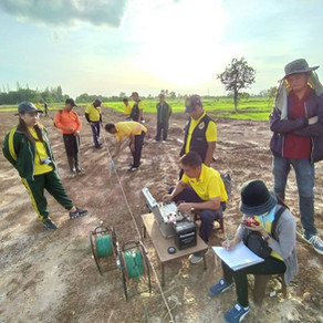 Geophysics Survey Workshop in Chiangkrue AGS Groundwater Bank Learning Center