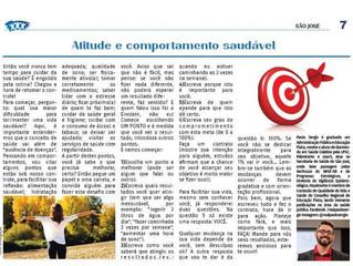 Atitude e comportamento saudável - Jornal Comunidade Santa Catarina