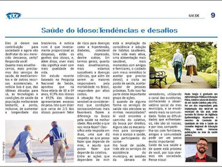 Artigo meu sobre saúde do idoso no Jornal Comunidade Santa Catarina