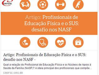 Profissionais de Educação Física e o SUS: desafio nos Núcleos de Apoio à Saúde da Família (artigo)