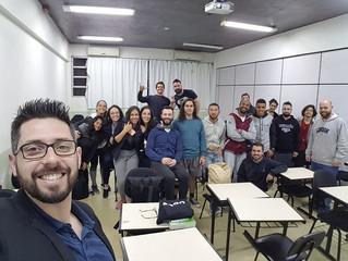 Aula sobre o SUS para os alunos de Educação Física da UDESC